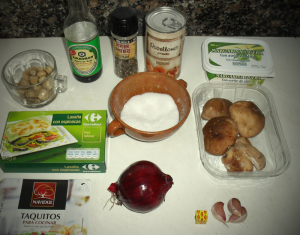 Lasaña de setas ingredientes