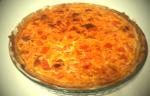 Tarta de cebolla con chorizo