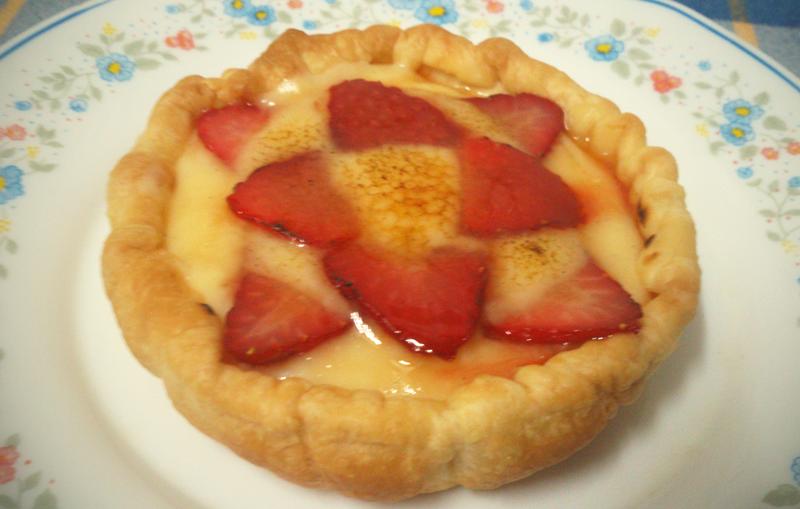 Tartaleta de natillas con fresas