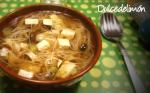 Sopa de setas con toque oriental