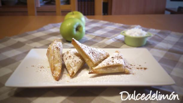 Triángulos de manzana