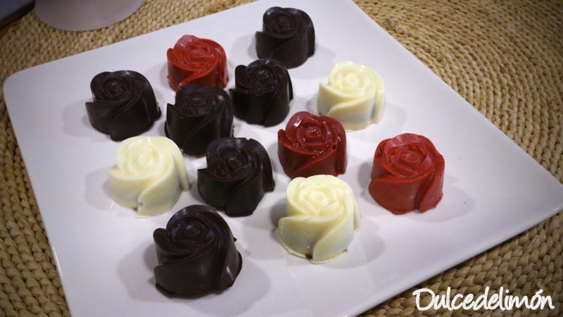 Bombones de mousse de chocolate