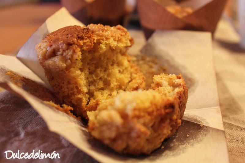 Muffins de limón con crujiente