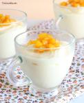 Mousse de mango y queso batido