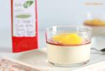 Panna cotta de Té Especial con Coulis de Mango y Caramelo