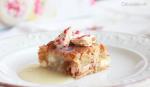 Blondie de galletas de cheesecake y frambuesa