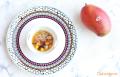 Aperitivo de mango con rejos al vermut blanco