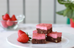 Brownie Cheesecake de Fresa