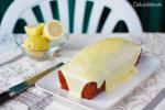 Bizcocho de yogur y limón con chocolate blanco