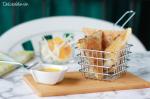 Samosas de arroz venere con pollo a la naranja