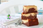 Brownie cheesecake de plátano y café