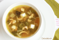 Sopa de acelgas con pollo y toque de limón
