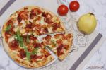 Pizza de membrillo y jamón