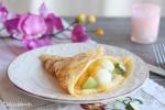 Crepes con Crema de Melón y Frutas
